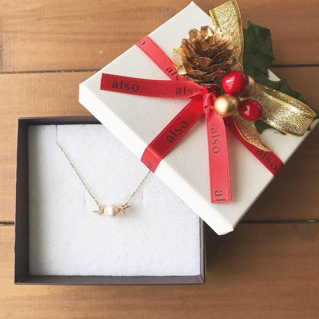 クリスマス ボックス パールネックレス ジュエリー